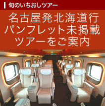 名古屋発北海道行パンフレット未掲載ツアーをご案内