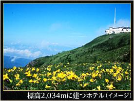 標高2,034mに建つホテル(イメージ)